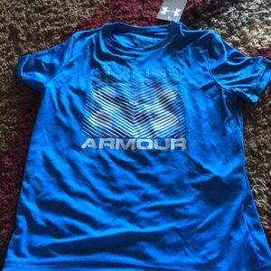 NWT Boys UA shirt